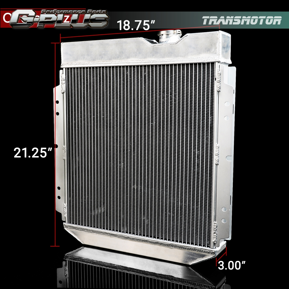 62mm Aluminum Racing Radiator For 64-66 FORD MUSTANG//SHELBY V8 L6 MT//AT