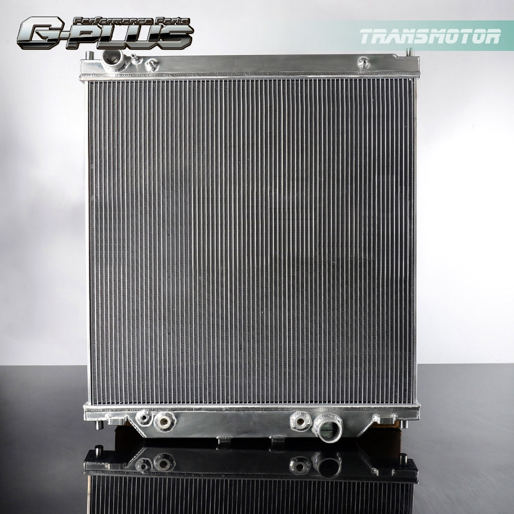 6.0L TWO ROW Aluminum Radiator For FORD F250 F350 Powerstroke 2003-2007 AT//MT