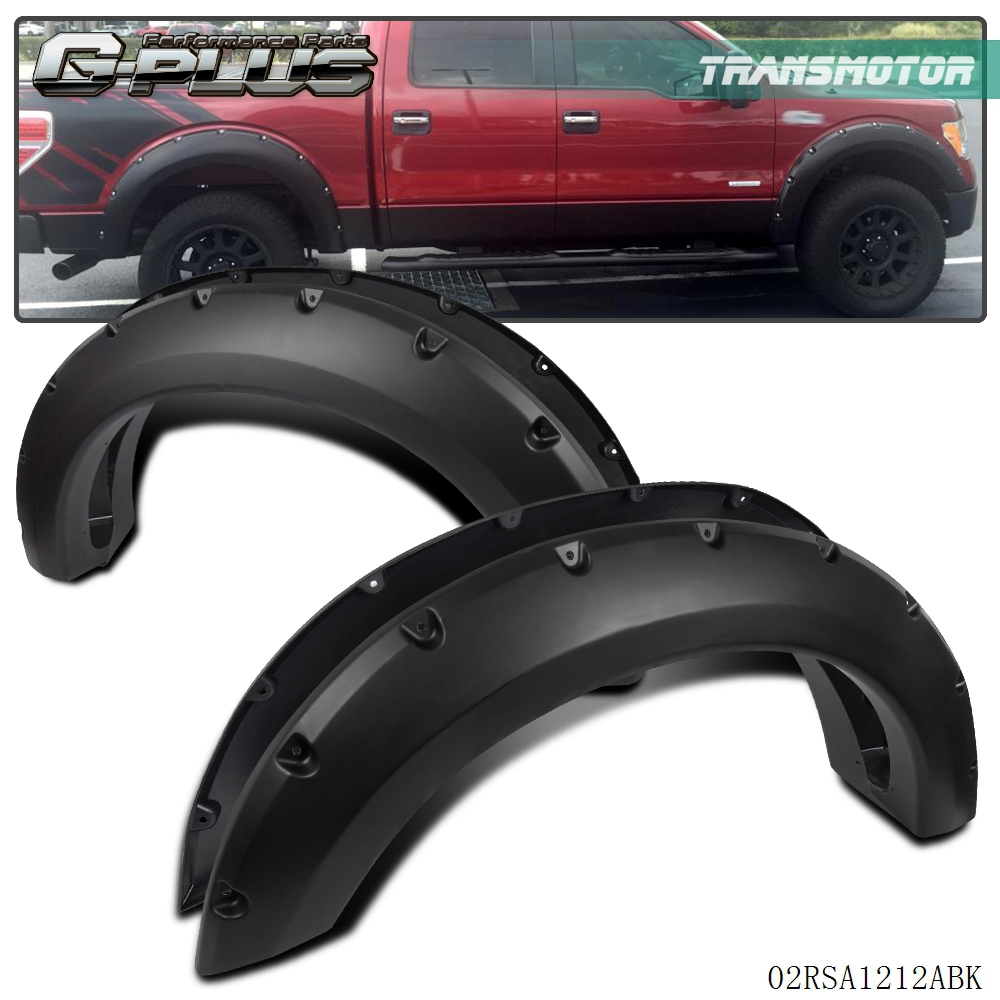 Smooth Pocket Style Fender Flares Pocket Style For 2004-2008 Ford F150